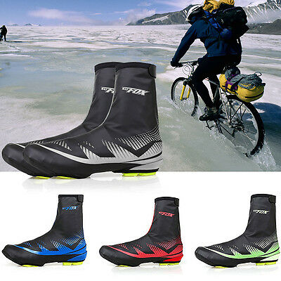 Outdoor Cycling Shoe Covers Winter Warm Cover Waterproof Protector Overshoes US