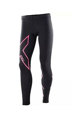 2Xu Youth Girls Compression Tights - Black/hot Pink Xl