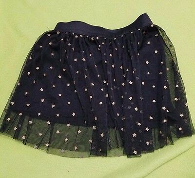 Girl's okie doke black tutu with gold stars size 5t