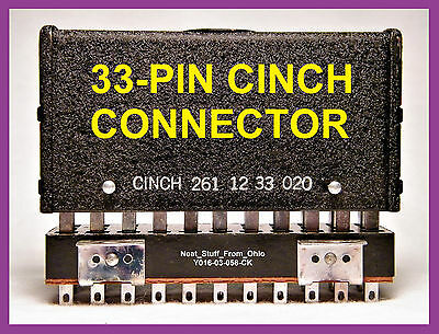 Cinch 261-12-33-020 Military-Aircraft-Industrial 33-Pin Large Connector (Pair)