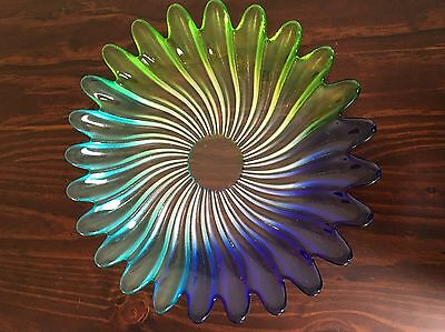 Coloured Glass Serving Plate