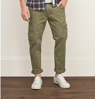 Abercrombie and Fitch Slim Straight Cargo Pants 31x30
