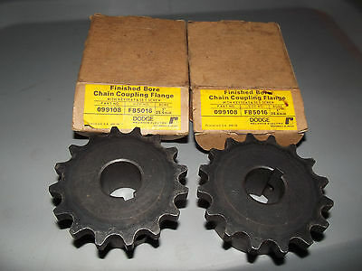 """LOT OF 2 NEW DODGE FB5016 X  1""""  CHAIN COUPLING FLANGE,, free shipping"""