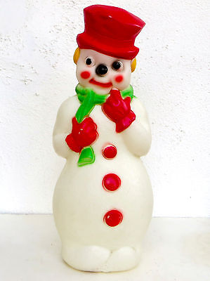 Vintage Christmas Blow Mold Snowman 1970's Yard Decoration lawn Lighted