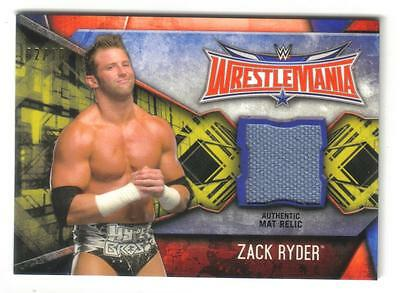 2017 Topps WWE Road To WrestleMania Zack Ryder Gold Parallel Mat Relic #2/10