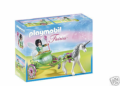NEW Playmobil Unicorn Carriage with Butterfly Fairy 5446