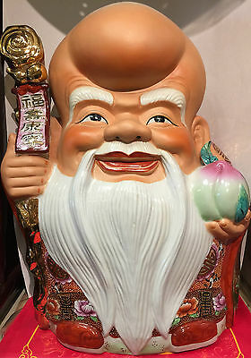 Antique Chinese Laughing Fortune Buddha Statue