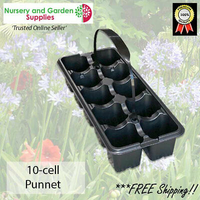 10 cell Seedling Punnet - various pack size + optional handles available