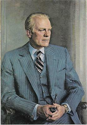 38Th President Gerald R Ford (1974-1977) Holding A Briar Pipe! Free Shipping