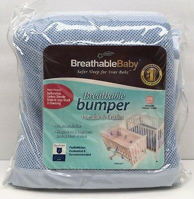 Breathable Baby One Size Fits All Breathable Sage Mesh Crib Liner Portable