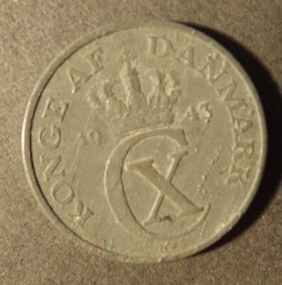 Denmark 5 Ore Coin In Zinc Dated 1943