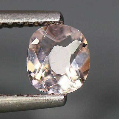 0.54 Cts_Simmering Ultra Nice Color_100 % Natural Peach Pink Morganite_Brazil