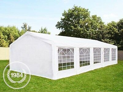 Garden Marquee 5x10 m Party Tent with Steelframe and Excellent Tarpaulin white