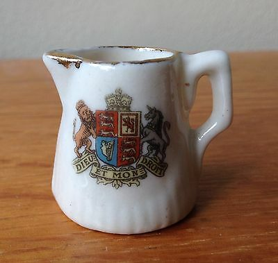 Crested Ware Miniature Coat Of Arms Jug