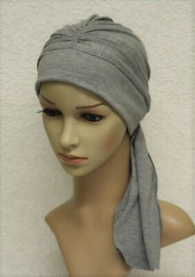 Chemo hat, full turban hat with ties, chemo head wear, full head covering
