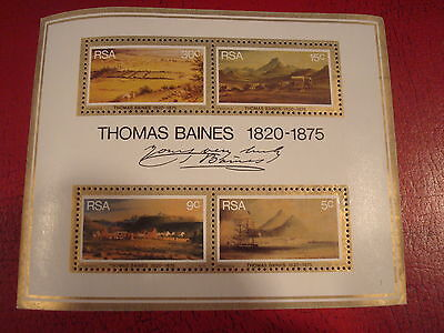 South Africa - 1975 Thomas Baines - Minisheet - Unmounted Mint - Ex. Condition
