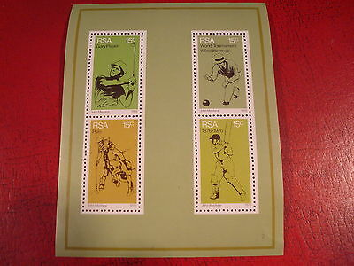 South Africa - 1976 Sport - Minisheet - Unmounted Mint - Ex. Condition