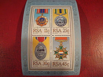 South Africa - 1984 Medals - Minisheet - Unmounted Mint - Ex. Condition