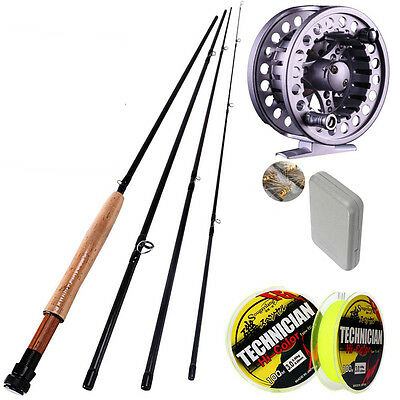 Fly Fishing Kits 4section 2.7M/8.85ft #5/6 Rod and Reel Gifts 40 Flies Box Lines