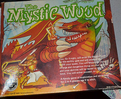 1980 RPG The Mystic Wood fantasy role playing board game Terence Donnelly Ariel