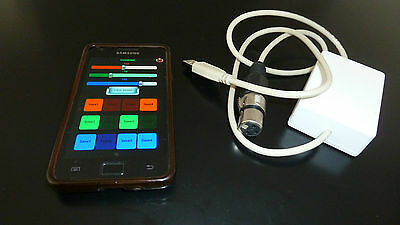NEW Wireless DMX stage lighting controller Android phone USB to DMX