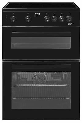 Beko KDC611K 60cm Black Double oven Electric Cooker