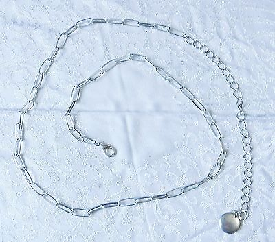 Neat Retro 60S Style Silver Metal Chain Necklace Or Belly Waist Hips Belt Wow
