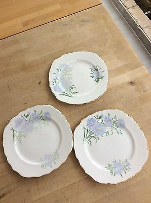 Royal Vale  Fine Bone China 3 Tea Plates