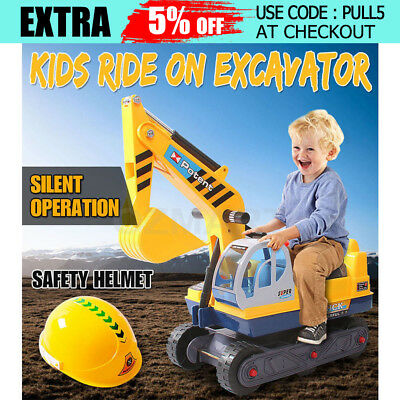 Kid Ride On Excavator Pretend Play Digger Sand Car Toys Child Power Construction