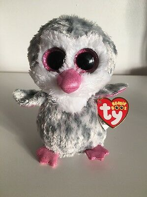 """New Rare Ty Beanie Boo Olive Owl Penguin Claires Exclusive 6"""" Soft Plush Toy"""