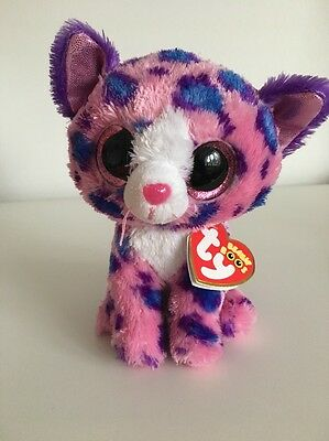 """New Rare Ty Beanie Boo Reagan Cat Claires Exclusive 6"""" Soft Plush Toy"""