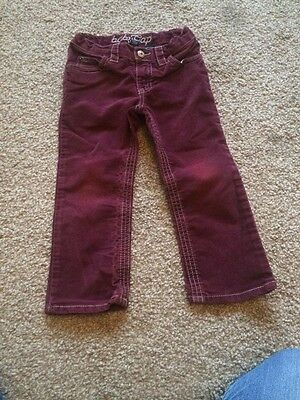 Girls Baby Gap Cord Purple Trousers Age 3