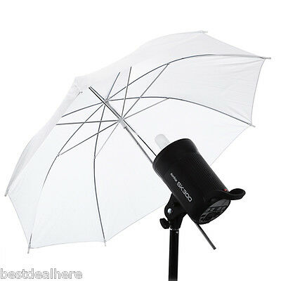 33 inch Translucent Photography Soft Light Photo Studio Video Umbrella White New