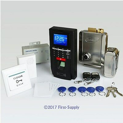 Remote Controlled Fingerprint And RFID Door Access Control Kit +Electric Lock