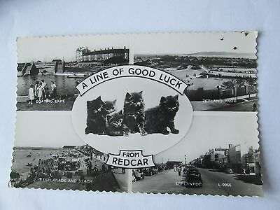 Postcard of Redcar (Multiview) L9966 posted RP