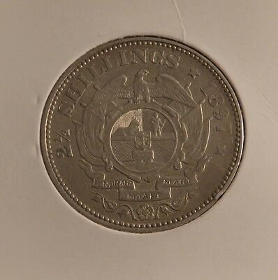 1897   South African 2 1/2 Shillings In V/fine Condition