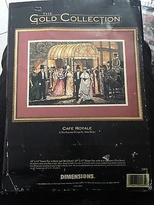 Dimensions Gold Collection Needlepoint Kit - Cafe Royale 2465