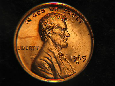 1969 D Lincoln Memorial penny Uncirculated
