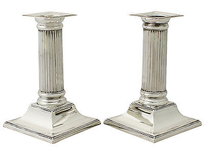 Sterling Silver Candlesticks - Antique George V