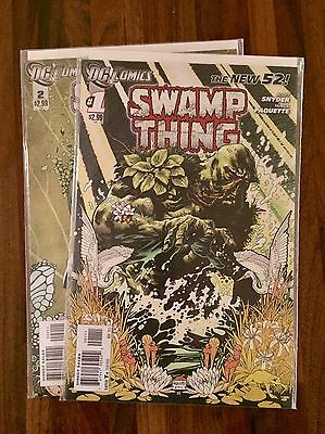 Swamp Thing #1 & 2 (New 52) FIRST PRINTS