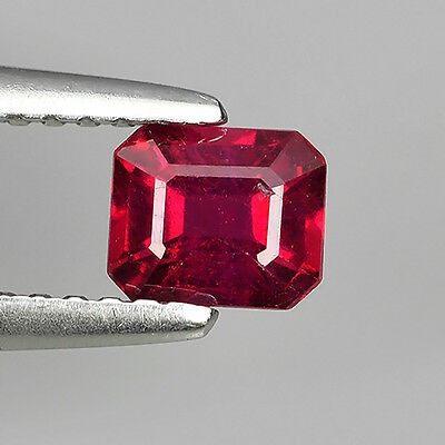 0.62 Ct Top Quality Pigeon Red Heating Natural Ruby Emerald Cut Loose Gemstones