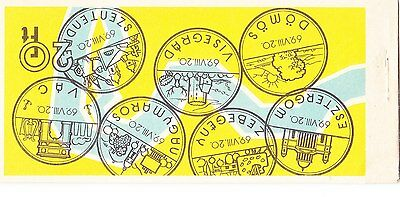 Hungary 1969 Donau Towns Stamp Booklet - B4
