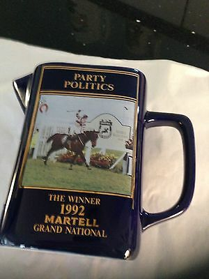 Party Politics Water Jug To Commemorate Winner Of 1992 Martell Grand National