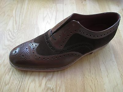 Design Loake mens brown mix leather & suede brogues shoes UK 7  BNIB new £165