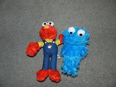 Sesame Street Elmo And Cookie Monster Soft Toy Plush