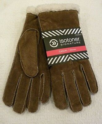 Women's Isotoner Signature Casual Gloves W/ Sherpa Soft Lining, 100% Suede, $40!