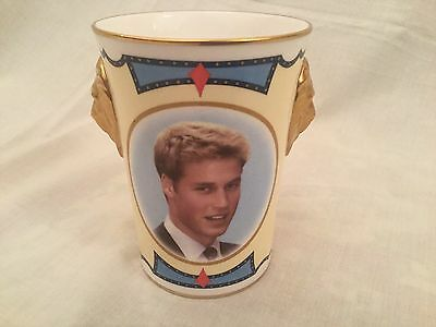 Caverswall Limited Edition Lionhead Beaker Prince William 21st Birthday 2003