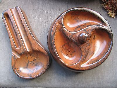 Vintage Ceramic Pipe & Cigar Ashtrays Collectible Home Gift New Unused