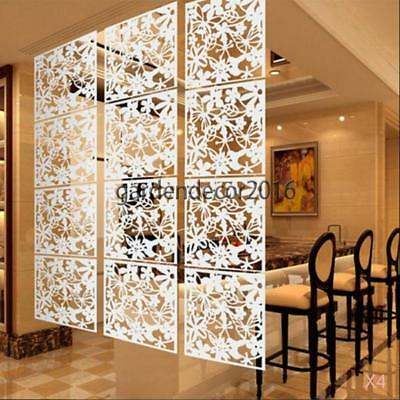 16x Butterfly Flower Hanging Screen Curtain Room Divider Partition White