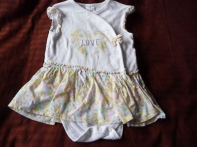 ** Pretty  'Love' Top with Built in Vest - F&F (6 - 9 months) **